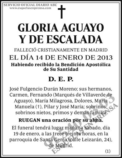 Gloria Aguayo y de Escalada